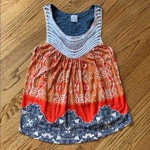 One September/Anthro Raye Crochet Tank Sz M